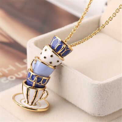 $ CDN23.85 • Buy Kate Spade Fashion Luxury Blue Tea Cup Teacup Pendant Necklace