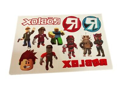NEW ROBLOX  Temporary Tattoo Sheet Children Kids Birthday Party Bag Filler • 2.49£