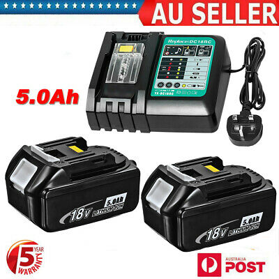 AU106.99 • Buy 18V 5.0AH LXT Battery For Makita BL1830 BL1840 BL1850 Cordless Tools Or Charger