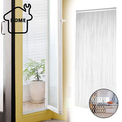 Aluminum Door Curtain Metal Chain Screen Fly Insect Mosquito Blinds Pest Control • 25.95£