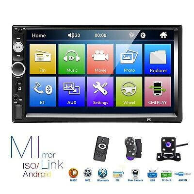 $ CDN106.41 • Buy Hikity Double Din Car Stereo 7 Inch Touch Screen Radio Bluetooth FM Receiver ...