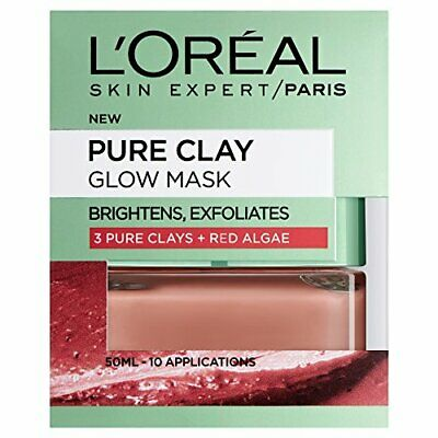 L'Oreal Paris Face Mask Pure Clay Glow, 50ml • 6.99£