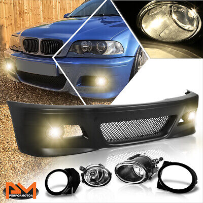 $295.89 • Buy For 99-06 BMW E46 3-Series Non-M Front Bumper Cover Lower Lip W/Grille+Fog Light