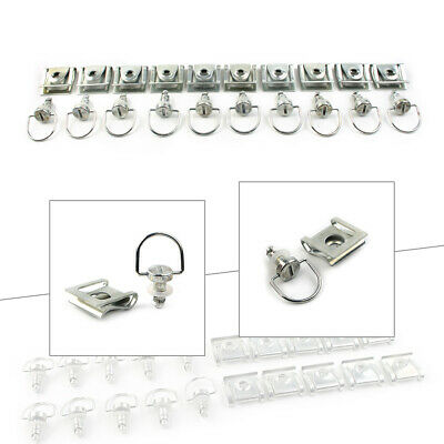 £17.80 • Buy 10 Sets Race Fasteners Quick Release 1/4 Turn Fairing 15MM D-Ring Bolt For Honda