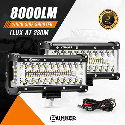 AU59.95 • Buy 2x 7inch CREE LED Light Bar Side Shooter Pods Combo Beam Work Driving 4WD