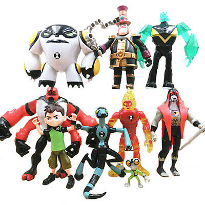 9Pcs Ben 10 Four Arms Grey Mat 5  PVC Action Figure Doll Set Play Toy Model Gift • 16.49£