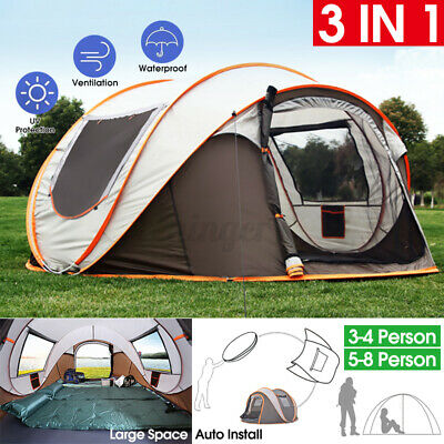 AU90.30 • Buy Quick-open Tent Outdoor Camping Field Tents Camping Rainproof Boat Account