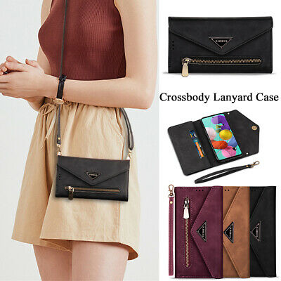 Crossbody Wallet Case For IPhone 11 Pro 6 7 8 XS XR Leather Lanyard Flip Cover  • 9.99£