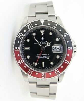 $ CDN18809.37 • Buy .Auth 2002 Rolex GMT Master II  Coke  Steel Watch Full Set Box Papers Tags 16710