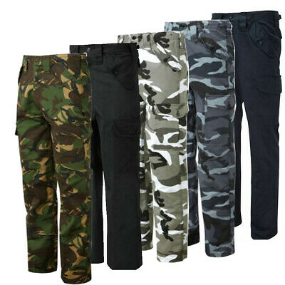£17.99 • Buy Mens Cargo Combat Work Army Camo Leisure Workwear Military Cotton Trousers Pants