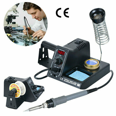 Soldering Iron Station Rework 60W LED Variable Temperature Digital Solder Wire • 22.19£