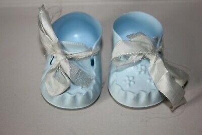 Cinderella Vintage Size 2 Baby Ribbon Tie Dolls Shoes ; Ice Blue • 3.95£