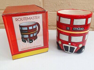 Routemaster Round Shaped Coffee Mug Red Bus London Ceramic Tea Cup Gift Boxed • 5.95£