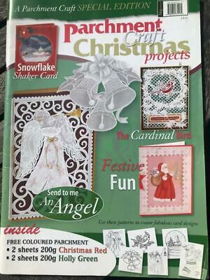Parchment Craft Christmas Projects 2009 Cards, Boxes & Decorations Angel Bird • 2.50£