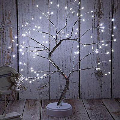 Twig Tree WHITE Lights LED Birch Easter Christmas Tree Table Lamp Decor UK New • 12.39£