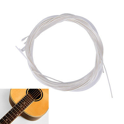 $ CDN2.57 • Buy 6pcs Guitar Strings Nylon Silver Plating Set Super Light For Acoustic Guitar KK