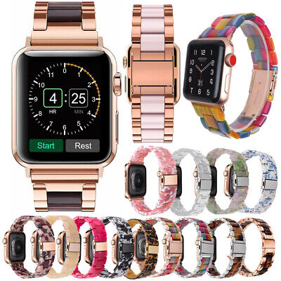 Leopard Clear Lot Resin Wrist Watch Band Strap For Apple Watch Series 5 4 3 2 1 • 10.39£