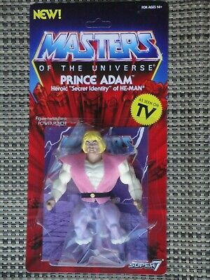 $25 • Buy Masters Of The Universe Prince Adam Action Figure MOC Super 7 Vintage Series