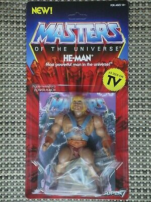 $38 • Buy Masters Of The Universe He-Man Action Figure MOC Super 7 Vintage Series