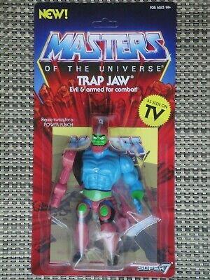 $38 • Buy Masters Of The Universe Trap Jaw Action Figure MOC Super 7 Vintage Series