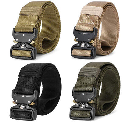 Adjustable Mens Belt Military Tactical Army Combat Waistband Rescue Rigger UK • 7.99£