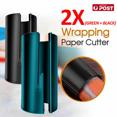 AU9.99 • Buy 2X Sliding Wrapping Paper Cutter Craft Seconds Wrap Paper Christmas Cut Tool VW