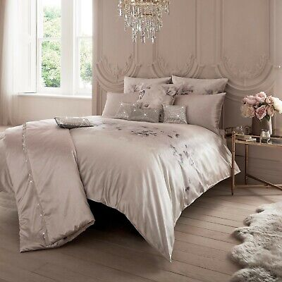 Kylie Minogue Bedding LUCIANA Blush Pink Floral Duvet Cover, Cushion And Throw • 340£