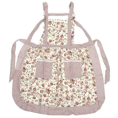 £3.49 • Buy TRIXES Frilly Floral Apron Tabard Kitchen Household Garden-Kitchen