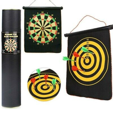 12''Dart Board Double Sided Dartboard Family Kids Childrens Game With Darts UK • 11.99£