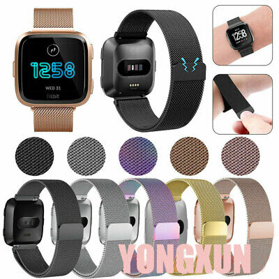 $ CDN10.24 • Buy For Fitbit Versa Loop Strap Band Stainless Steel Bracelet Wrist Watchband Acces