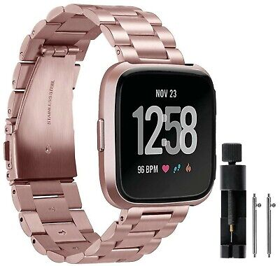 $ CDN38.39 • Buy Valchinova Compatible With Fitbit Versa Bands Replacement Metal Stainless Ste...