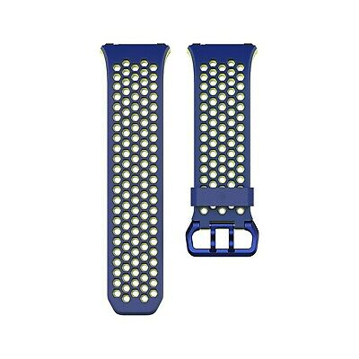 $ CDN67.78 • Buy Fitbit Ionic Accessory Sport Band, Blue/Yellow, Large, 0.1 Lb, 1 Count