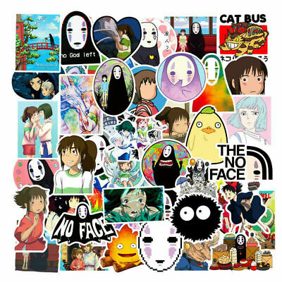 $ CDN5.88 • Buy 50Pcs Spirited Away No Face Man Anime Stickers Pack Vinyl Luggage Laptop Decals