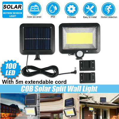 100 LED COB Solar Flood Wall Light Garden Security Spotlight Motion Sensor Lamp • 13.99£