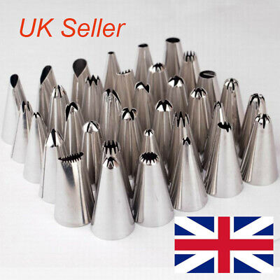 10PCS Russian Icing Piping Nozzles Flower Cake Decorating Tips Pastry Tools Set • 3.83£