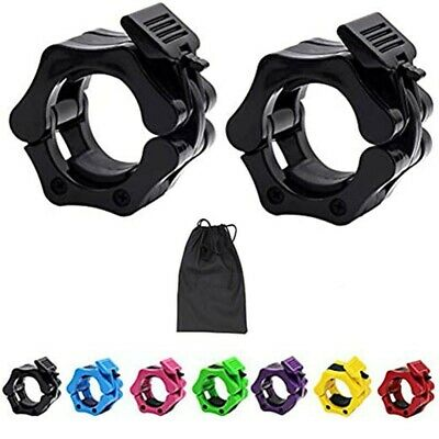 $ CDN10.14 • Buy Weightlifting 2 Inch Barbell Collars - Quick Release Olympic Barbell Clamp Clip