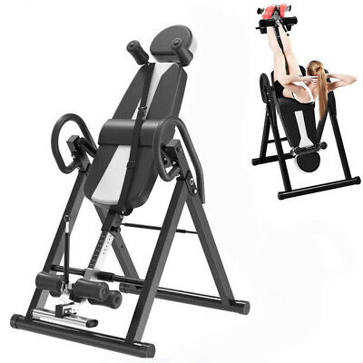 Folding Inversion Table Exercise Invert Align Machine Back Pain Therapy Bench • 104.29£