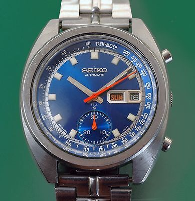 $ CDN937.22 • Buy Vintage 1960's Seiko Automatic Chronograph Original Blue Dial Ref. 6139-6015