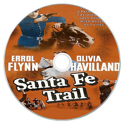 Santa Fe Trail 1940 - Errol Flynn, Olivia De Havilland - Adventure, Drama DVD • 2.49£