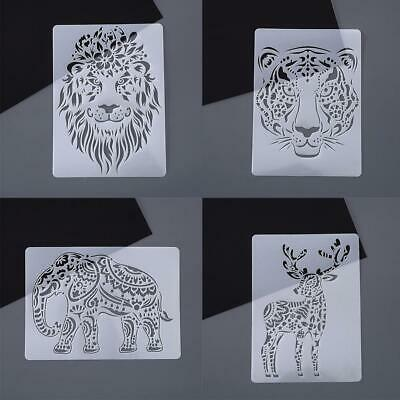 Scratch Painting Stencils Animal Drawing Template DIY Kids Ruler Toys Lace Y8H3 • 1.96£