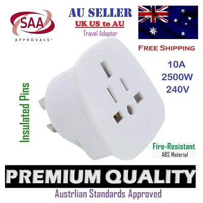AU14.65 • Buy SAA Travel Plug Adapter - UK/US/JP/CA To AU/NZ Universal Australia Adaptor