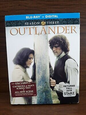 AU28.06 • Buy Outlander  Season Three Blu-ray Caitriona Balfe New Sealed