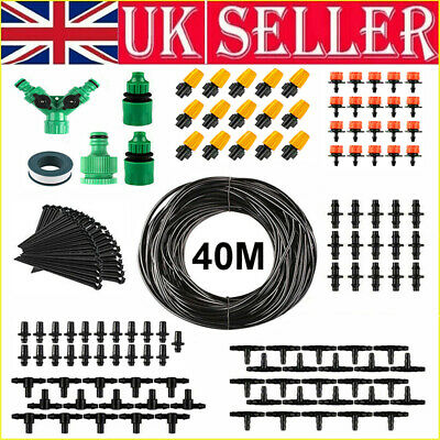 131ft Automatic Irrigation System Micro Drip Plant Watering Garden Hose Kits UK • 13.94£
