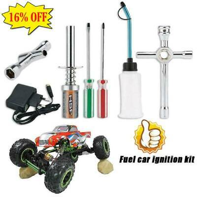 £9.48 • Buy RC Nitro GAS Power Engine Starter Kit Glow Plug Igniter Charger For HSP RC Car