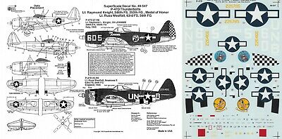 SUPERSCALE DECALS 1/48 P-47D Thunderbolt 346th FS 350th FG 56th FG 8th AF(USAAF) • 6.99£