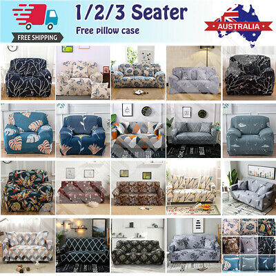 AU28.49 • Buy EASY Stretch Couch Sofa Lounge Covers Recliner 1 2 3 4 Seater Dining Chair Cover