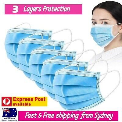 AU15.99 • Buy Disposable Face Mask Mouth Cover 3 Layer Protective Meltblown Filter