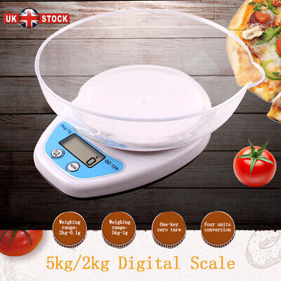 Digital Kitchen Scales LCD Electronic Cooking Food Weighing Scale With Bowl • 6.99£