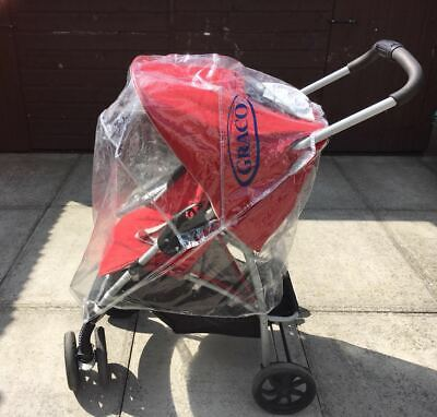 Graco Red Travel System Single Seat Stroller Pushchair Buggy • 49£