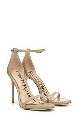 $ CDN60.12 • Buy Sam Edelman Ariella Ankle Strap Open Toe Sandal Heels Shoes Size 8.5M Nude